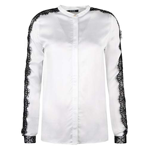 Guess LS Ornella Shirt Camisa, Blanco (True White A000 Twht), Large para Mujer
