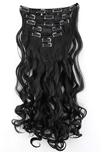 PRETTYSHOP XL SET 7 piezas clip in extensions Las extensiones de cabello engrosamiento del pelo pedazo del pelo de fibras sintéticas resistentes al calor CE2-1