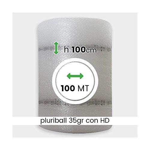 IMBALLAGGIPER ROTOLO PLURIBALL 35 GR + HD DA 100 MT H 100 CM BOLLE ARIA TRASLOCO PLU011C