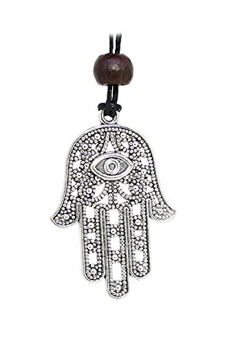 budawi® - Anhänger Hand der Fatima mit Halsband, Die Hand von Fatima Kettenanhänger