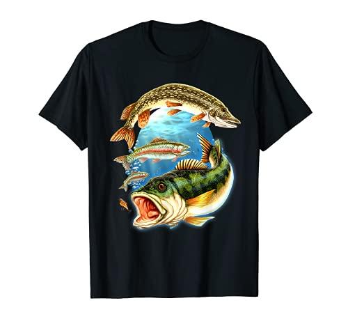 Das Geschenk für Angler - Guter Fang 3 Fische - Angel T-Shirt