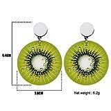 GUOHAUNB Anweisung Acryl Muster Neuheit Kiwi Ohrringe Tropfen Baumeln Lange Große Mode Obst Schmuck Für Frauen Mädchen Geschenk