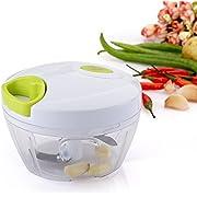 Uten Kitchen Mini Chopper Food Pull Processor with Peeler- for Vegetable, Fruit, Garlic, Herb, Onion, Pull Slicer Cutter Blender Tool