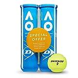 Dunlop Tennisball Australian Open - für Sand, Hartplatz und Rasen (2x4 Bi-Pack)