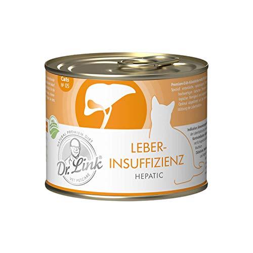 Dr. Link Spezial-Diät Leberinsuffizienz | Hepatic Geflügel und Rind |6 x 200 g | Nassfutter für Katzen
