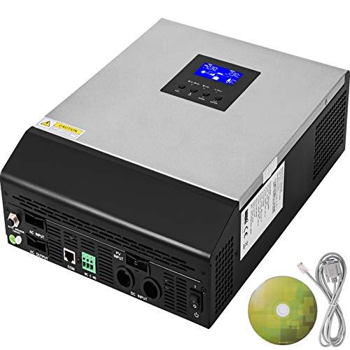 Mophorn Solar Inversor de Corriente 230V Convertidor de Corriente 50A Cargador Sola DC 24V Inversor Onda Pura Inversor Inteligente con Cargador de Utilidad 50HZ