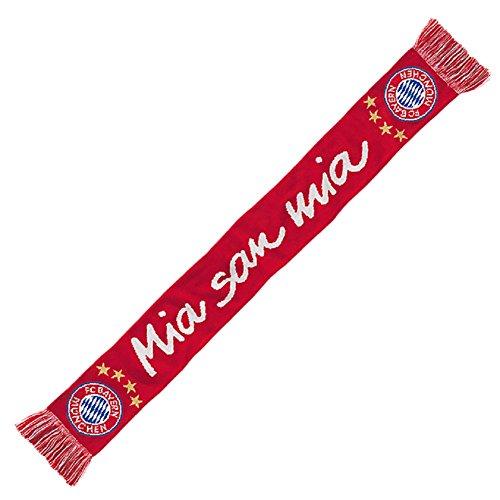 FC Bayern München Mia San Mia Fanschal Schal (one size, rot/weiß)