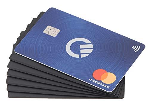 RFID Blocker Karte | 6 x | DEKRA geprüft | extra dünn | RFID Schutz | RFID NFC Schutz | RFID Blocking Card | Schutzkarte | schwarz