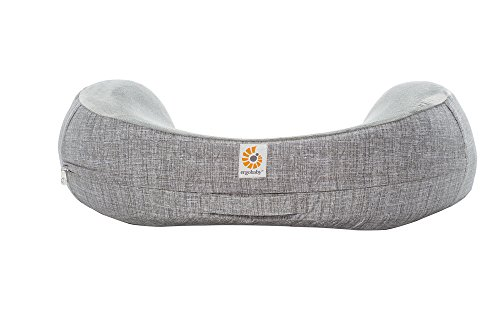 Ergobaby Breastfeeding Pillow with Cover, Natural Curve, Heathered Grey