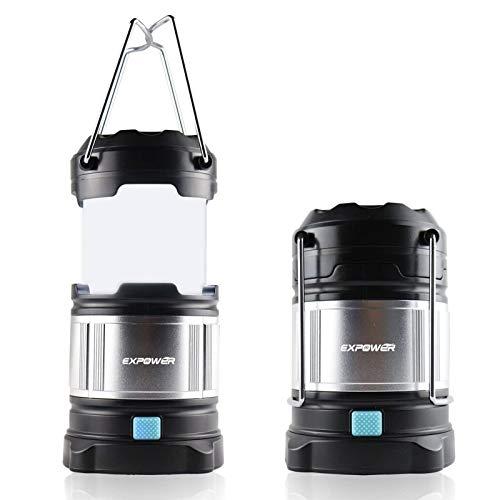 IPX5 wasserdicht tragbare LED Camping Laterne Helle Campinglampe Gartenlaterne Led USB Lampe Taschenlamp eingebaute wiederaufladbare 4400mAh Power Bank,4 Licht Modi für Nachtfischen,Jagen