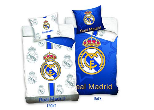 Real Madrid RM181011 - Juego de cama reversible (135 x 200 cm)