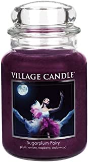 Village Candle Sugarplum Fairy 26 oz Glass Jar Scented Candle, Large