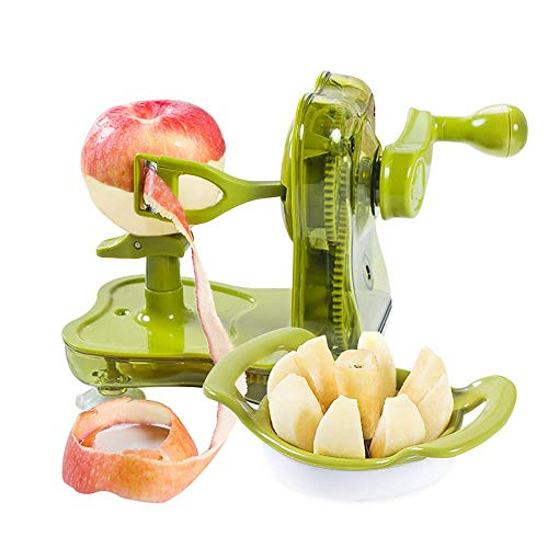 ZUEN Cast Magnesium Apple/Potato Peeler Corer by Spiralizer, Hand-Cranking Apple Peeler Slicer Peeler Durable Heavy Duty for Vegetable Fruit Twister Peeler