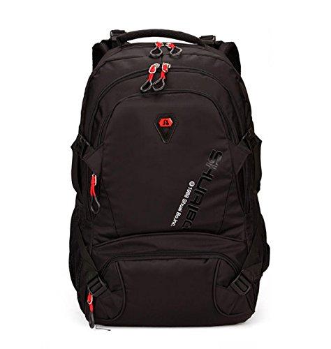 Shuaibo Schulrucksack Laptoptasche 15.6 Zoll gepolstert Schulranzen Reise Mode Wasserfest