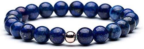 AnimeFiG Pulsera de Piedra Mujer, 7 Chakra Piedra Natural Beads Lapis Elástico Bangle Inspiración Joyería Yoga Balance Energía Encanto Difusor Mujer Pulsera Regalo para un Amigo