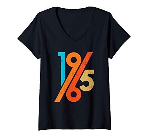 Donna 1965 vintage 56° compleanno retrò 60s Maglietta con Collo a V