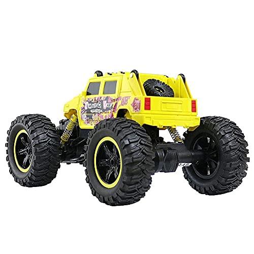 ADSVMEL RC Desert Car Toys Coche Recargable 4WD Remoto Pequeño y Robusto Neumáticos Escalada Adecuado para Cualquier Terreno Juguete eléctrico Hobby Regalo para niños Día de los niños
