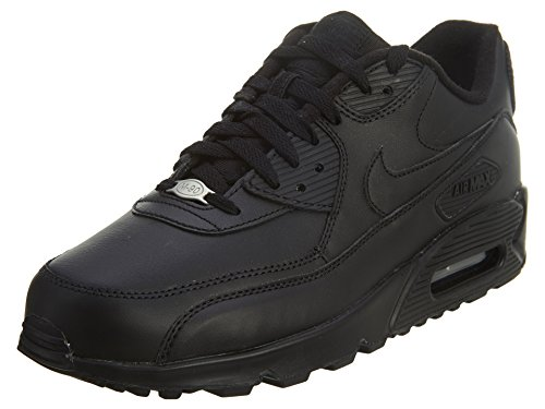 Nike Mens Air Max 90 Leather Running Shoes Black/Black 302519-001 Size 9.5
