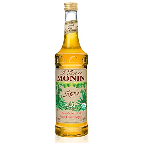 Monin - Organic Agave Syrup, Sweet and Full Flavor, Great for Any Beverage, Gluten-Free, Vegan, Non-GMO (750 Milliliters), 25.5 Fl Oz