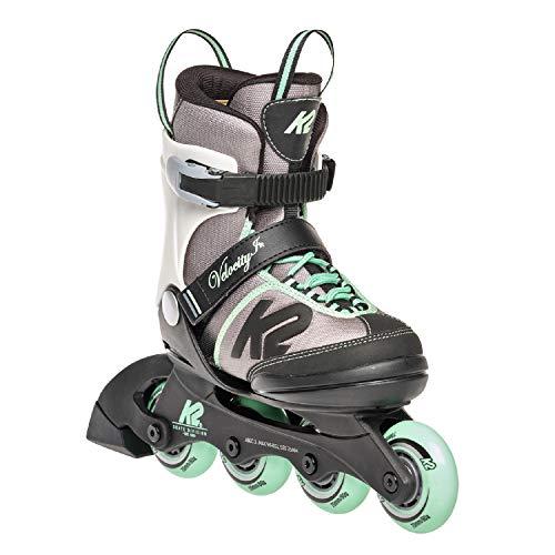 K2 Skates Mädchen Inline Skate Velocity Jr G — grey - green — S (EU: 29-34 / UK: 10-1 / US: 11-2) — 30E0291