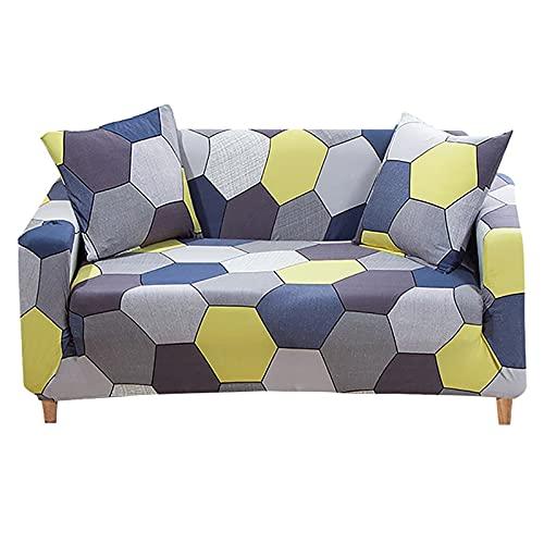WXQY Funda Antideslizante elástica Universal con Todo Incluido Funda de sofá Impresa decoración del hogar Funda Protectora de sofá A3 3 plazas