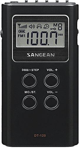 Sangean DT-120 - Radio portátil LCD, Negro