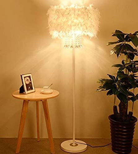 The harvest season- Kristall Feder Stehlampe Nacht Einfaches Modernes Wohnzimmer Schlafzimmer Vertikale Tischleuchte A+