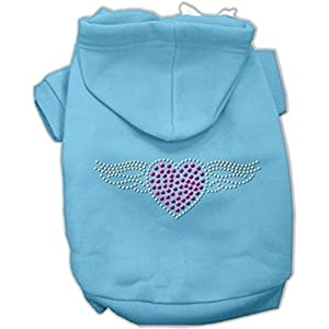 Mirage Pet Products 16-Inch Aviator Hoodies, X-Large, Baby Blue