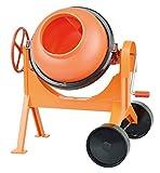 LENA- x Bétonnière 29 cm Orange-Grand Bol de Ciment pour Plage et bac à Sable-Mélangeur avec Fonction réaliste-Jouet pour Enfants et Petits constructeurs à partir de 3 Ans, 5004, coloré