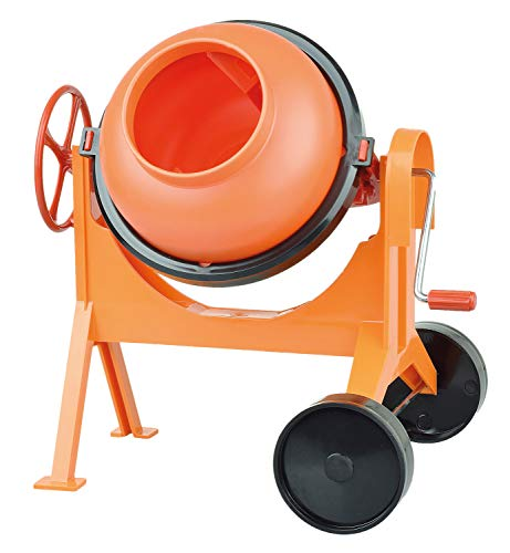 Lena 05004 - Betonmischer 29 cm, Mischmaschine orange, großer Zementmischer für Strand und Sandkasten, Mischer mit realistischer Funktion, Sandspielzeug für Kinder und kleine Bauarbeiter ab 3 Jahre