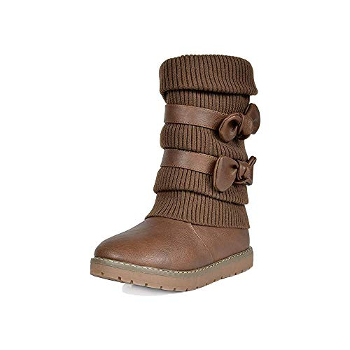 Sperry unisex child Port Rain Boot, Tan/Brown, 5 Big Kid US