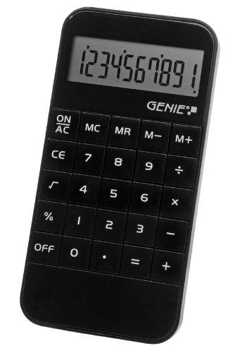 Genie 40B 10-stelliger Taschenrechner (Batterie-Power, kompaktes Design) schwarz