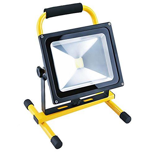 Apgstore LED Arbeitsleuchte Fluter Baustrahler Wiederaufladbar Neutralweiß 30W (30W)