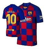 Fooweyt New 19/20 Home Barcelona 10 Messi - Camiseta de fútbol para hombre - Multi - Small