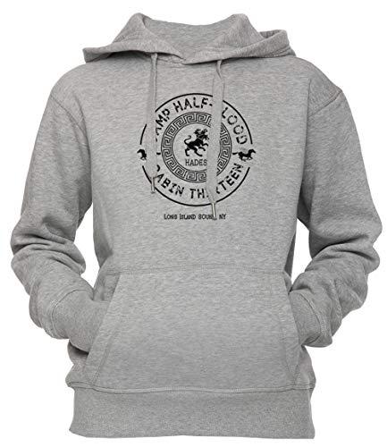 Cabin Thirteen - Hades - Percy Jackson - Camp Half-Blood Unisex Uomo Donna Felpa con Cappuccio Pullover Grigio Dimensioni M Men's Women's Hoodie Grey Medium Size M