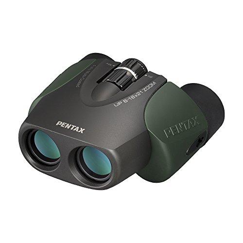 PENTAX 双眼鏡 UP 8-16×21 グリーン (8-16倍ズーム) 高級プリズムBak4搭載 フルマルチコーティング ライブ コンサート スポーツ観戦 メーカー保証1年 ペンタックス 61963