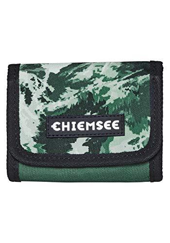 Chiemsee Wallet Münzbörse, 13 cm, Dark Green/Sand