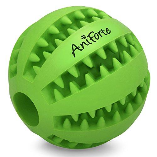 AniForte Naturkautschuk Zahnpflegeball für kleine Hunde, Welpen Ø 5cm – Snackball gegen Zahnstein & Zahnbeläge, reinigt Zähne & Zwischenräume, Intelligentes Hundespielzeug, Hundeball Premium Qualität