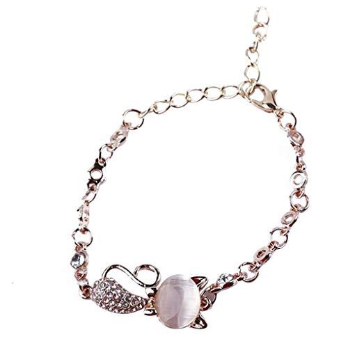 fgyhtyjuu Pulsera de aleación de animales, elegante colgante de mano, para mujer y niña, accesorios de joyería