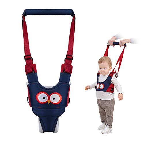 Vicloon Lauflernhilfe Gehhilfe für Baby, Baby Lauflernhilfen Einstellbare mit Sicherheitsverschluss und Magischen Aufklebern, Atmungsaktiv Stehen Gehen Lernen Helfer Walker für Baby (Blau)