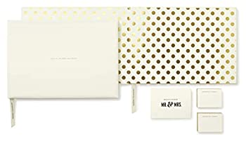 Kate Spade New York for The Mr and Mrs Wedding Guest Book Gold Dots