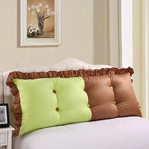 APcjerp Lavable versión Coreana de la Cama Doble Cabecera Cojines Acolchados de algodón Suave del Bolso del sofá del Dormitorio del Respaldo de la Almohadilla (Color: 1, tamaño: 150 x 55 cm) Hslywan