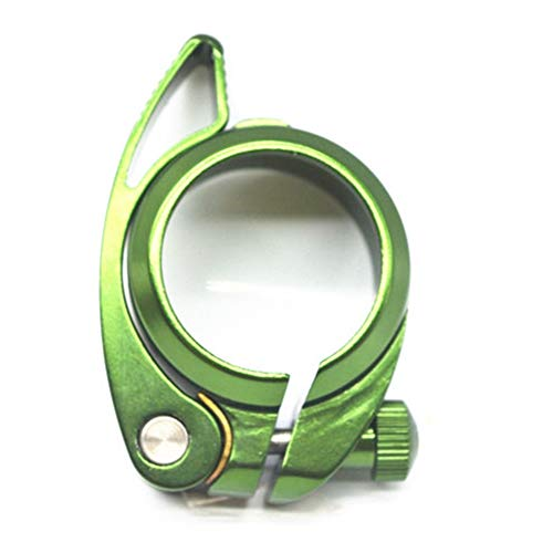 Tamkyo Abrazaderas de Tijas de SillíN Abrazadera de Tubo de Asiento de Bicicleta Plegable EléCtrica de AleacióN de Aluminio SP8 de 41 Mm, 41 Mm Verde