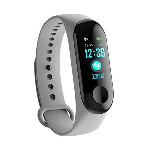 N\C Reloj de Pulsera Fitness M3 con Pantalla a Color, Pulsera Deportiva Inteligente, rastreador de Actividad, Ritmo cardíaco para niños, Hombres, Mujeres, Horas