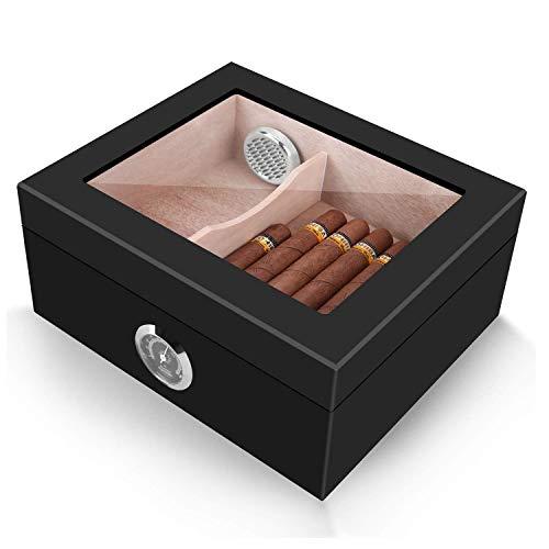 Yzbtj Hölzerner Zigarren-Humidor,...