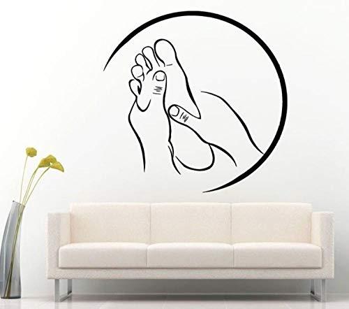 Wandsticker 57X56cm spa Massage Vinyl Aufkleber Für Salon Relax Pamper Beauty Rest Moderne Raumdekoration Aufkleber