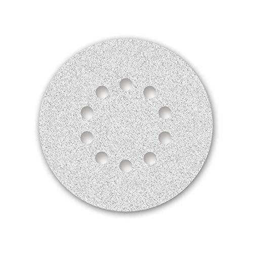 MENZER White Klett-Schleifscheiben, 225 mm, 10-Loch, Korn 60, f. Trockenbauschleifer, Korund mit Stearat (25 Stk.)