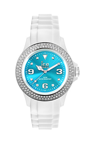 Ice-Watch - ICE star White Turquoise - Women's wristwatch with silicon strap - 013750 (Medium)