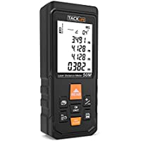 Telémetro Láser Profesional, TACKLIFE 50m Medidor Láser de Preción ±1,5mm, Medidor Laser de Distancia, Multimodos y Gran Ventana de Recepción, Reflector de Láser, Función de Silencio -S3-50