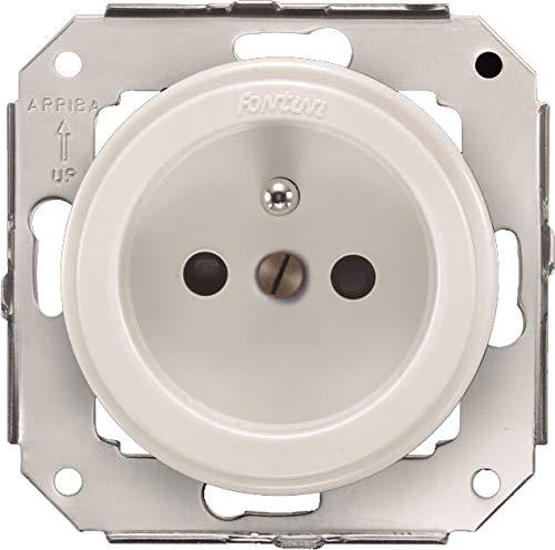 venezia /Base TT lat/érale avec obturateurs de s/écurit/é 16/A-250/V blanc Fontini/